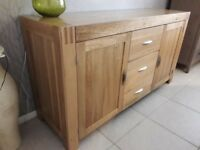 Large Solid Oak Sideboard from Oak Furniture land in Excellent Condition