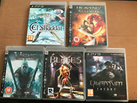5x PS3 Games, Heavenly Sword, Blades, Ei Shaddai, Viking, Quantum Theory