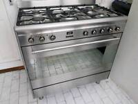 Smeg Dual Fuel Range Cooker with FSD and Hood 90CM