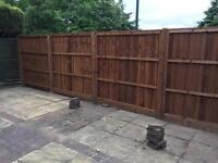 Fencing, timber or concrete.