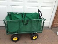 Garden/Allotment trolley with collapsible sides