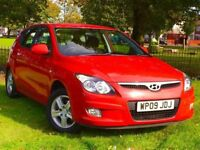 2009 HYUNDAU i30 1.4 COMFORT PETROL RED 5 DOOR HATCHBACK **BRAND NEW MOT*PARKING SENSORS**