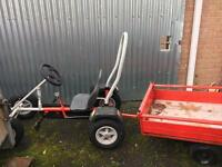 Go cart with trailer
