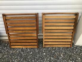 Habitat oak deckchair footrests