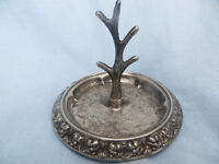 Vintage Ianthe Silver Plated Ring Tree Holder Antler