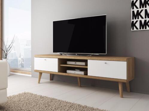 Tv meubel wit licht eiken schuine poten tv kast for Marktplaats meubels