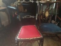 victorian queen victoria souvenir chair and mother of pearl chair