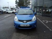 2009 09 NISSAN NOTE 1.4 ACENTA 5D 88 BHP**** GUARANTEED FINANCE **** PART EX WELCOME ****