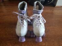 Size 3 Quad Boot Roller Skates