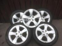 ALLOYS FIT BERLINGO PARTNER ANY FOUR STUD PEUGEOT OR CITROEN OFF A 3008 IN SET OF FIVE £300