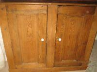 old antique pine dresser top/cupboard
