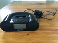 Gear4 CRG-60 Clock Radio with iPod Dock - Black.