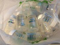 bag of avent bottles
