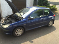 Peugeot 206 for sale spares or repairs