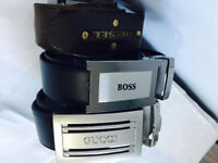 3 quality designer belts at only £25, exactly as shown in the pictures, not to be missed