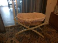 Baby Basket / Moses Basket for sale , used few months