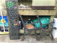 Cast iron Bench , NOW SOLD.