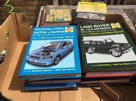 50 Workshop Manuals mainly Haynes