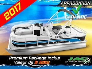 2017 Legend Boats Ponton Enjoy All Mercury 25 EL Bateau pêche **
