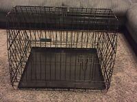 Dog crate for hatchback car