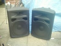 pro sound 600 watt passive speakers 8 ohms