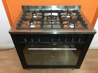 Indesit in black & stainless steel range cooker***free delivery in local***