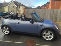 Mini Cooper Convertible, excellent condition, full MOT will be carried out on purchase.