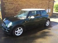 2002 (52) Mini Cooper 1.6 16v ~ Green ~ White Alloys ~ Mot Till March 2017