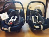 2 Maxi Cosi Pebble Plus Baby car seat - Excellent condition. Can buy single also.