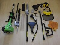 HANDY 4 IN 1 PETROL MULTI-CUTTER/MULTI TOOL:Brush cutter/Line Trimmer/Hedge Trimmer & Pruner £120.00
