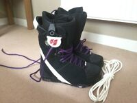 Flow boots NEW snowboard plus board and cover