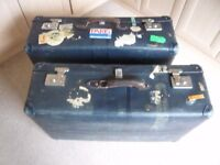 FOR SALE LARGE GLOBETROTTER SUITCASES