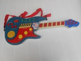 (266) Toy Electric Rock Guitar with Shoulder Strap