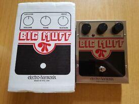 Electro Harmonix Big Muff Pi NY Guitar/bass effects fuzz pedal EHX