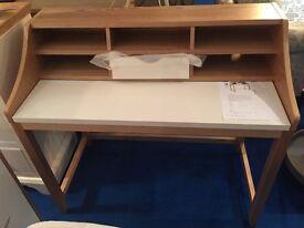 John Lewis Loft desk in rare Ash and white £199.00 BRAND NEW