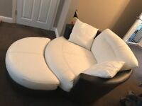 Dfs Swivel Cuddle Chair and Footstool