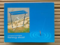 "Two new boxed sturdy, lightweight ""fishing"" stools"