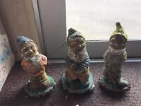 Three crusty old gnomes