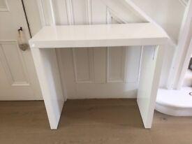 White Bramante small console table