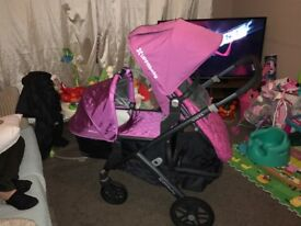 Uppababy vista double buggy