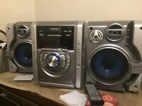 Panasonic HiFi System - CD/twin tape deck - subwoofer