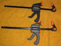 "two ratcheing bar clamps size 150mm - 6"" new"