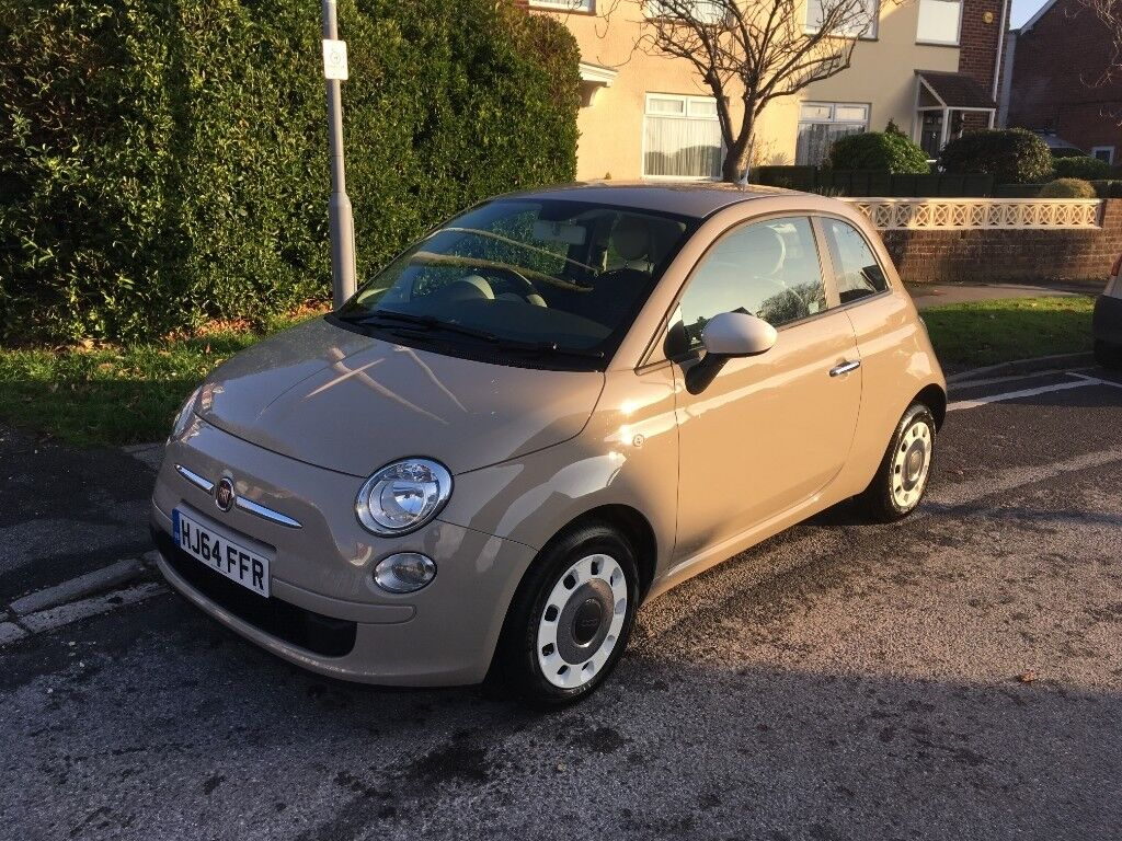 fiat 500 colour therapy in cappuccino beige 1 2 litre 69bhp petrol manual in weymouth. Black Bedroom Furniture Sets. Home Design Ideas