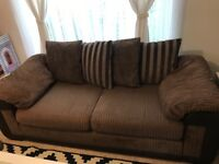 Dfs infinity 3 seater sofa bed and arm chair