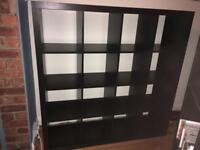 Ikea kallax black-brown shelving unit