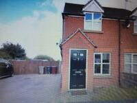 2 bed unfurnished house to rent In Clowne, private garden off road parking for 2 cars