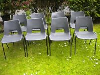 A SET OF 8 STACKING CHAIRS IDEAL FOR THE HOME OR GARDEN