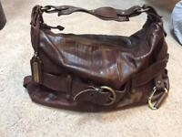 Russell and Bromley Dark Leather Bag