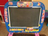 Peppa Pig Whiteboard and Blackboard Easel