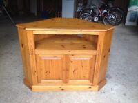 Pine TV corner unit, solid pine